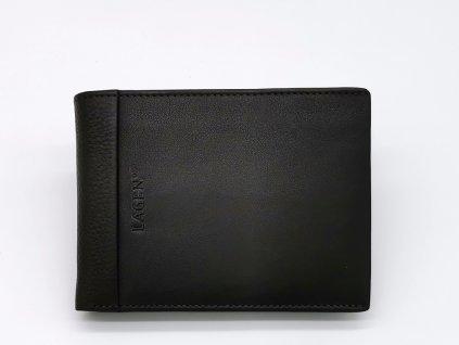 Pánská tmavě hnědá kožená peněženka 5819DBRN, LAGEN