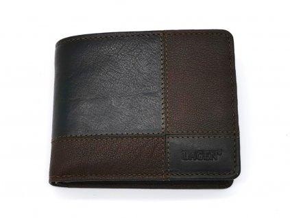 Pánská tmavě hnědá kožená peněženka 2108/T-DBRN, LAGEN