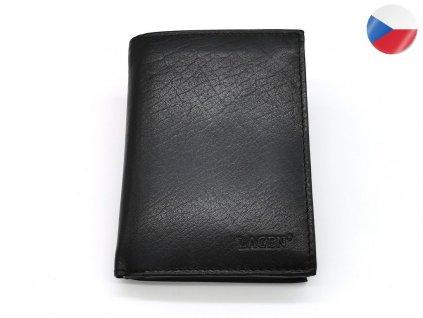 Pánská černá kožená peněženka LAGEN