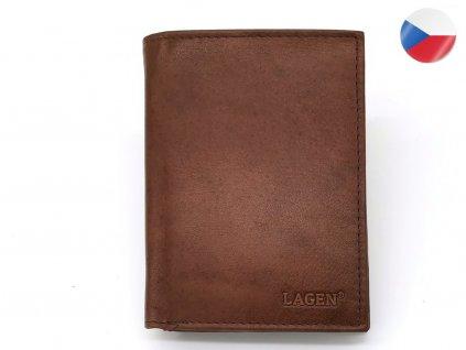 Pánská kožená peněženka LAGEN Viktor - hnědá