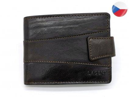 Pánská kožená peněženka V-98/T LAGEN Kelvin - tmavě hnědá