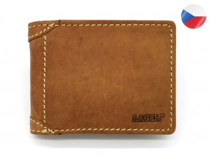 Pánská kožená peněženka LAGEN Matěj - světle hnědá
