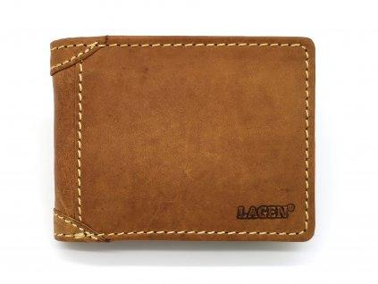 Pánská světle hnědá kožená peněženka 511461-TAN, LAGEN