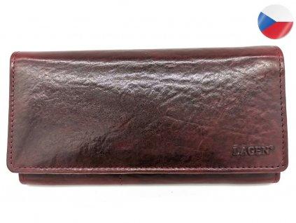 Dámská vínová kožená peněženka V-102/T-W.RED, LAGEN