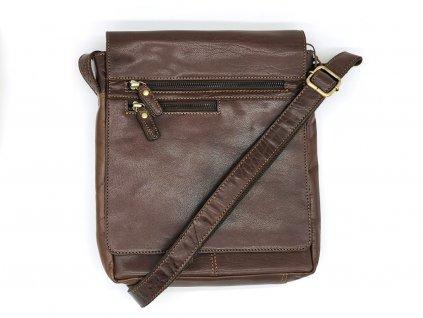 Kožená hnědá crossbody taška LN/3292/14-BROWN, LAGEN