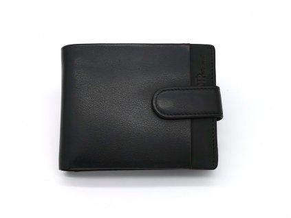 Luxusní černá pánská kožená peněženka B123161-Pr, MARTA PONTI