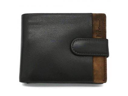 Luxusní pánská kožená peněženka MARTA PONTI Antonio - černá/hnědá