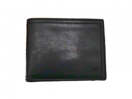Elegantní černá pánská kožená peněženka B240012-Pr, MARTA PONTI