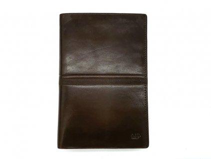 Luxusní hnědá pánská kožená dokladovka B120631-Ru, MARTA PONTI