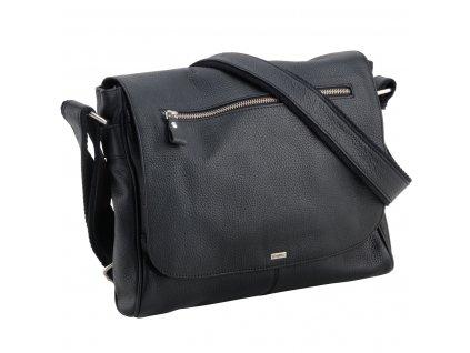 Elegantní pánská kožená taška LINDENMANN Charlie - černá