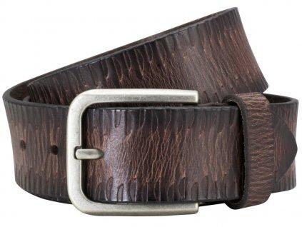 Pánský kožený pásek PIERRE CARDIN Jules - tmavě hnědý