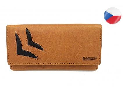 Dámská kožená peněženka LAGEN Alena - hnědá