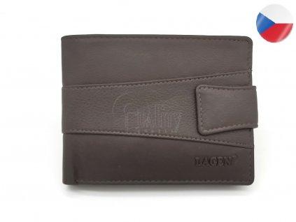 Pánská kožená peněženka LAGEN, Jack - tmavě hnědá