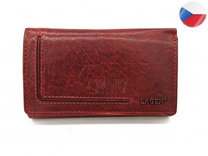Dámská kožená peněženka LAGEN Moira - červená