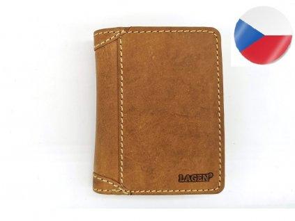Pánská kožená peněženka LAGEN, Cyril - světle hnědá