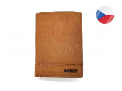 Pánská kožená peněženka LAGEN, Marian - světle hnědá