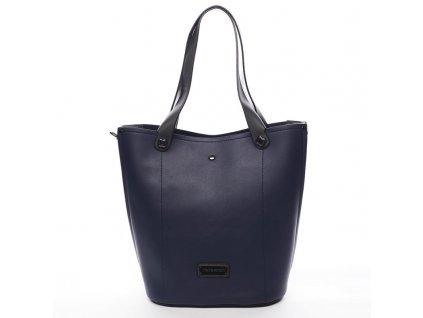 Modrá značková dámská kabelka Thomas se šedými prvky, PIERRE CARDIN