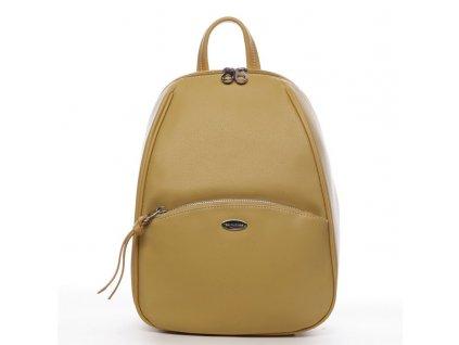 Žlutý trendy dámský batoh Sanja, DAVID JONES