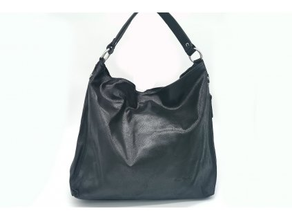 Dámská kožená kabelka PIERRE CARDIN, Beam - černá