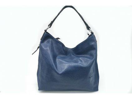 Dámská kožená kabelka PIERRE CARDIN, Beam - modrá