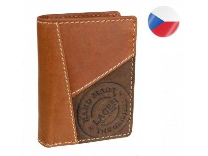 Pánská kožená peněženka LAGEN, George - světle hnědá