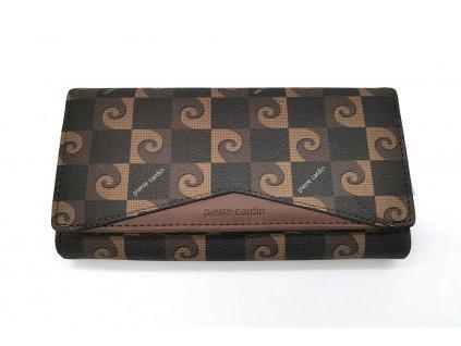 Dámská peněženka PIERRE CARDIN, Stellar - hnědá/černá