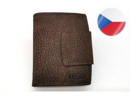 Kožená peněženka LAGEN Karla - hnědá