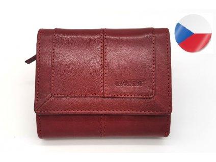 Dámská kožená peněženka LAGEN Neami - červená