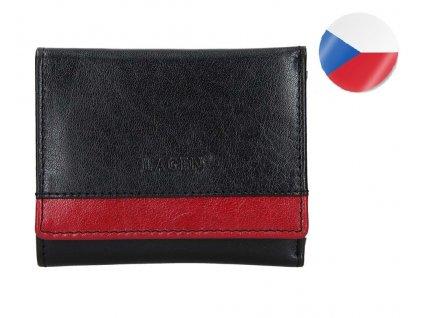 Dámská kožená peněženka LAGEN Ela - černá/červená