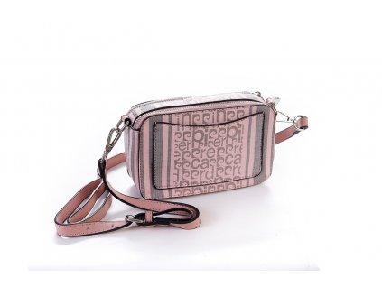 ms126 22858 borsetta donna pierre cardin fantasia logo righe tracolla firma doppia zip (1)