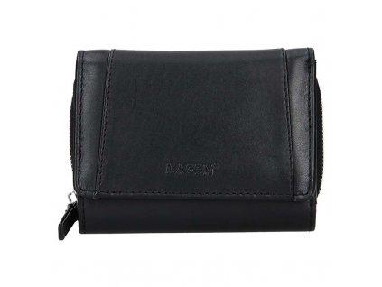 Dámská kožená peněženka LAGEN Alma - černá