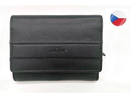 Dámská kožená peněženka LAGEN Mayim - černá