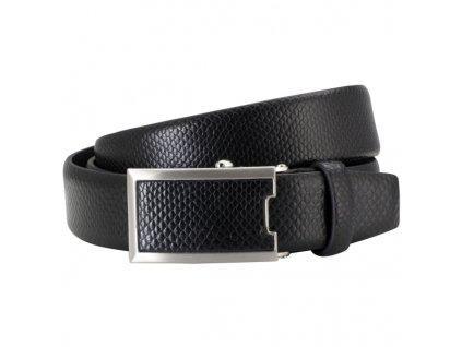 Pánský kožený pásek LINDENMANN Max - černý