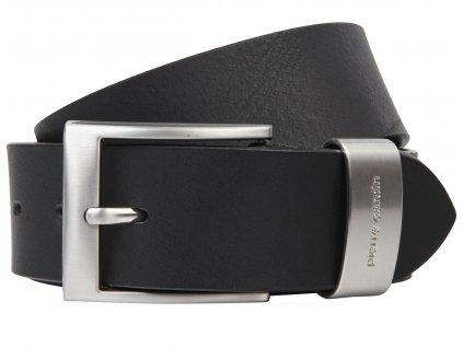 Pánský kožený pásek PIERRE CARDIN Richard - černý