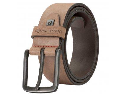 Pánský kožený pásek PIERRE CARDIN Philip - hnědý