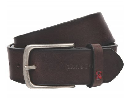 Pánský kožený pásek PIERRE CARDIN Michel - tmavě hnědý