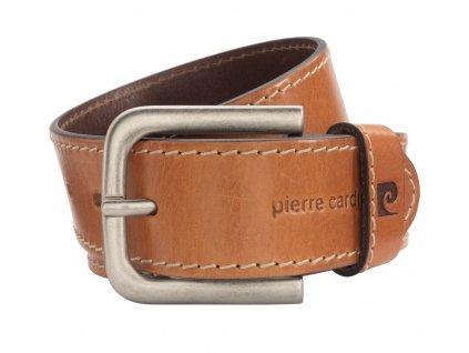 Pánský kožený pásek PIERRE CARDIN Pascal - světle hnědý