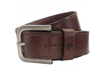 Pánský kožený pásek PIERRE CARDIN Pascal - tmavě hnědý