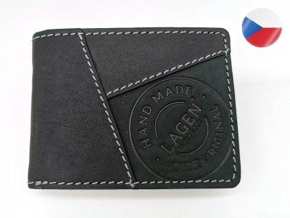 Pánská kožená peněženka LAGEN Baltazar - černá