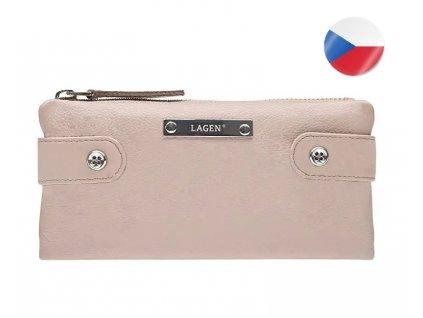 Dámská kožená peněženka LAGEN Elsie - starorůžová