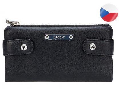 Dámská kožená peněženka LAGEN Elsie - černá