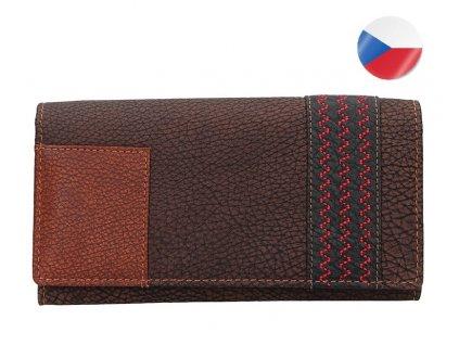 Dámská kožená peněženka LAGEN Květa - hnědá