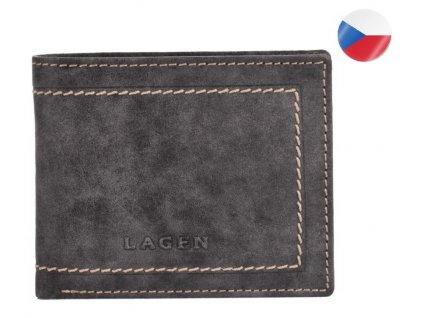 Pánská kožená peněženka LAGEN Isaac - šedá