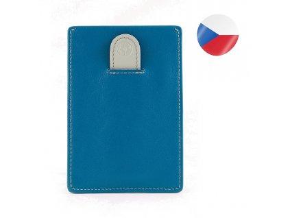 Luxusní pánská kožená dokladovka MONSI Minor - modrá