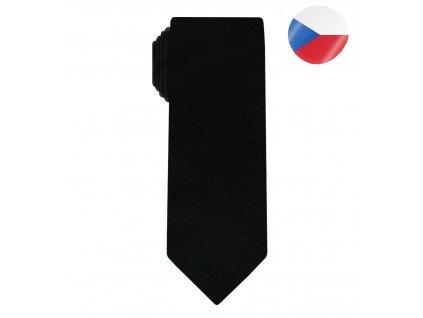 panska kravata hedvabna line cerna (6)