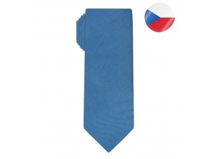 hedvabna panska kravata line modra (7)