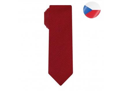 panska kravata comma slim cervena (7)