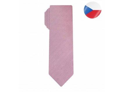 hedvabna panska kravata comma slim ruzova (6)