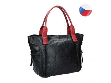 damska kozena kabelka cerna (2)