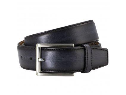 Pánský kožený pásek LINDENMANN Porthos - černý
